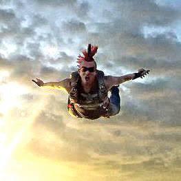 Salta fuori perfettamente funzionante AEREI T-shirt paracadute paracadutismo regalo di compleanno