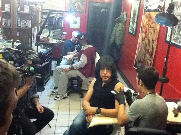 Elvis PRESLEY Tatuaggio 2 College Giacca Nero Fun culto BIKER ROCKER ROCKABILLY